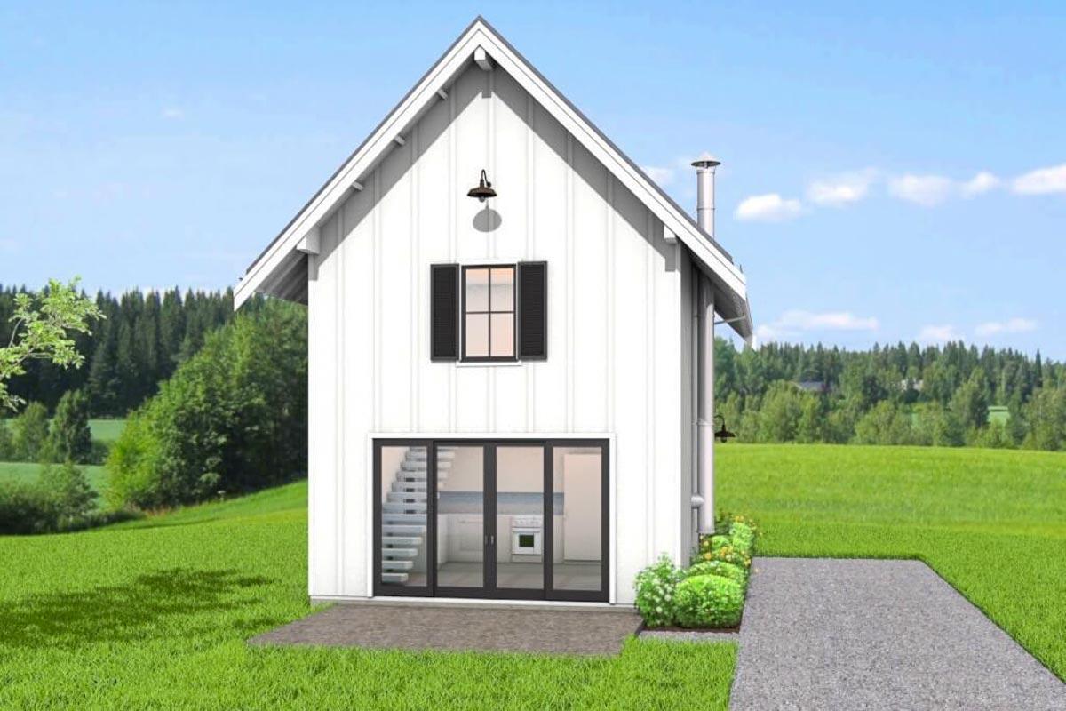 Small Modern Farmhouse Plan