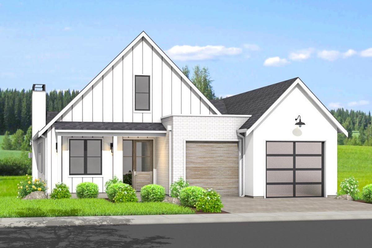 Modern Ranch Home Plan with Option for Walk-Out Basement ...