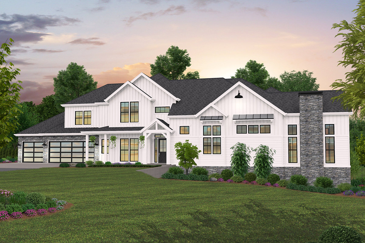 5-Bedroom Farmhouse Plan with Incredible Outdoor Living ... on Farmhouse Outdoor Living Space id=74085