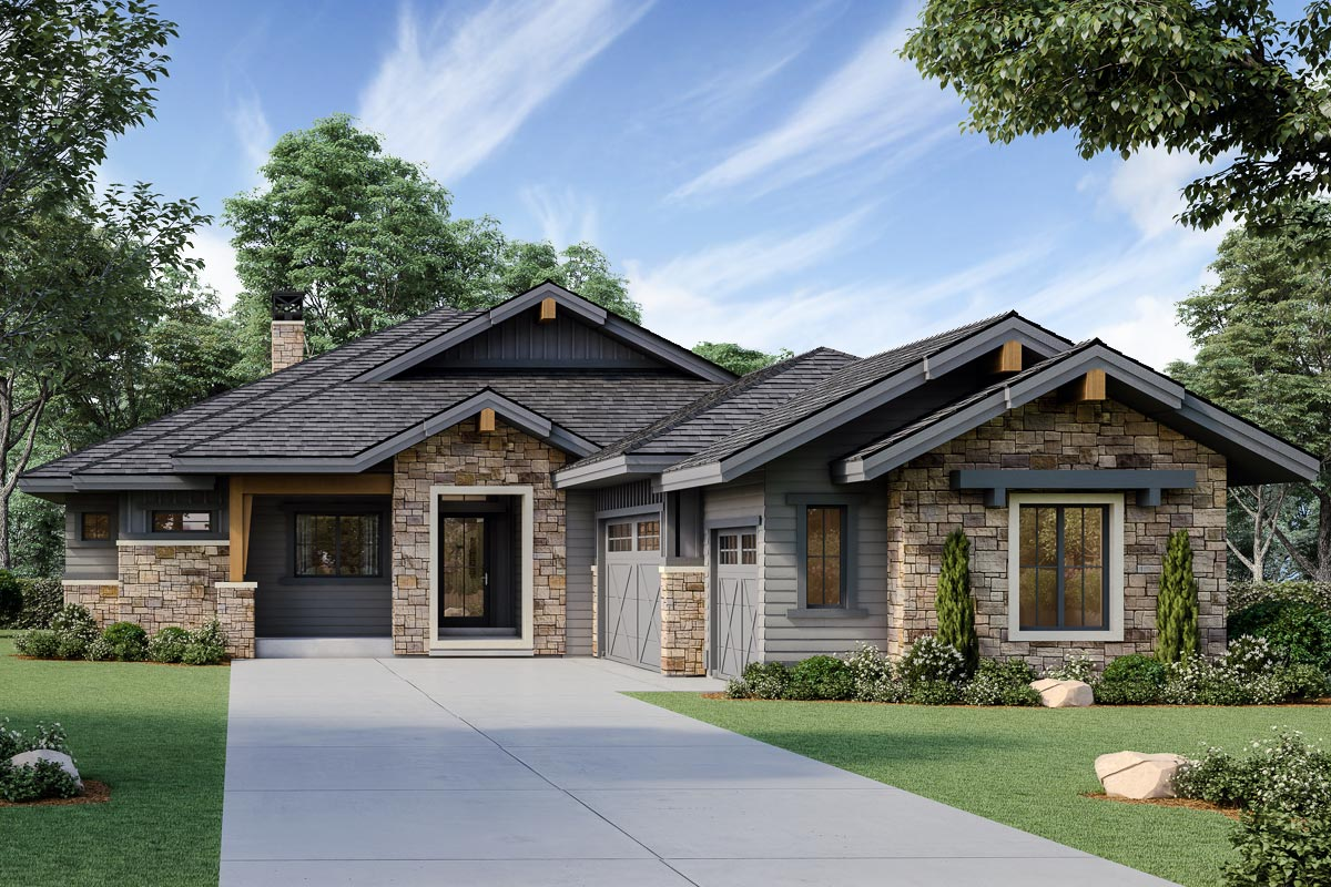 Exclusive Mountain Craftsman Plan with Indoor Outdoor ... on Exclusive Outdoor Living id=32637