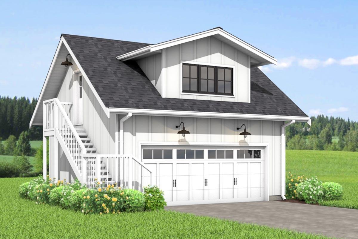 Efficient Modern Farmhouse Studio Garage Apartment ...
