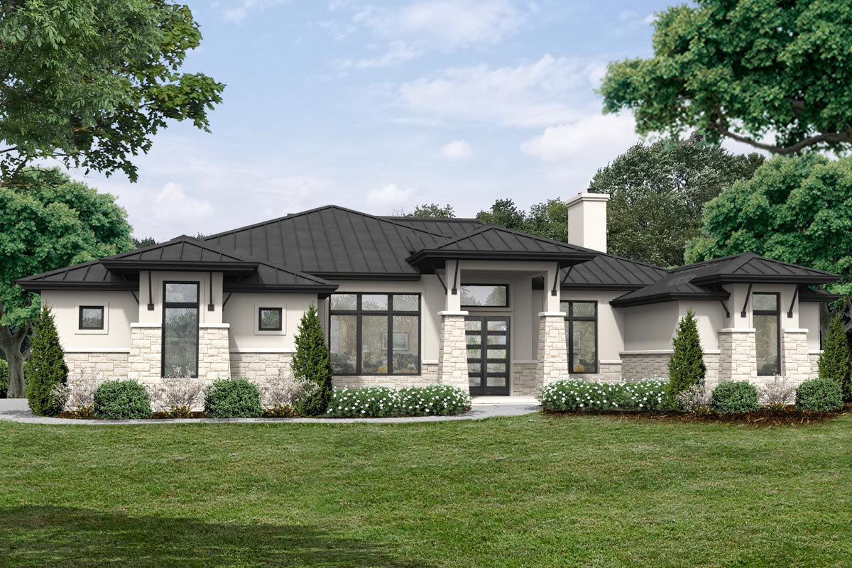 Modern Hill Country House Plan with 3 Bedrooms - 430066LY ...