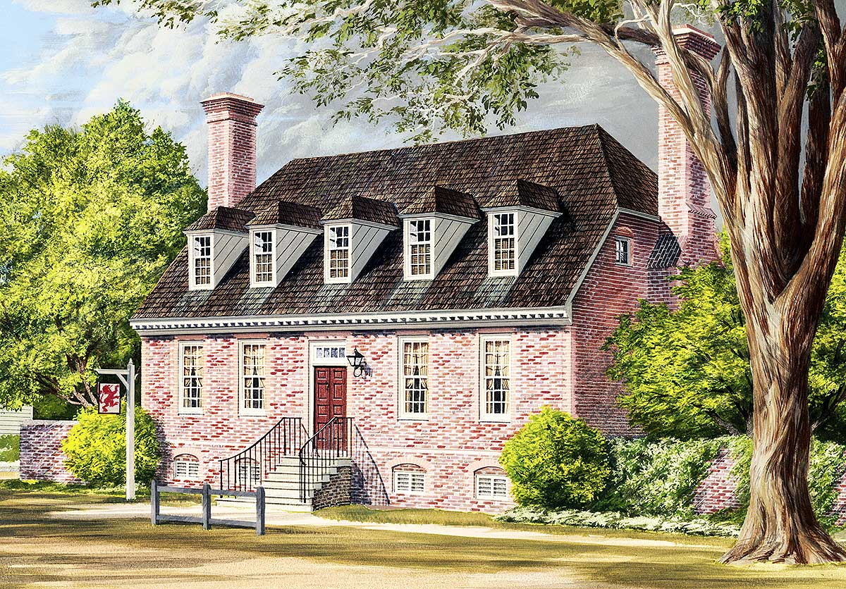 Traditional Colonial Home Plan - 32524WP | Architectural ...