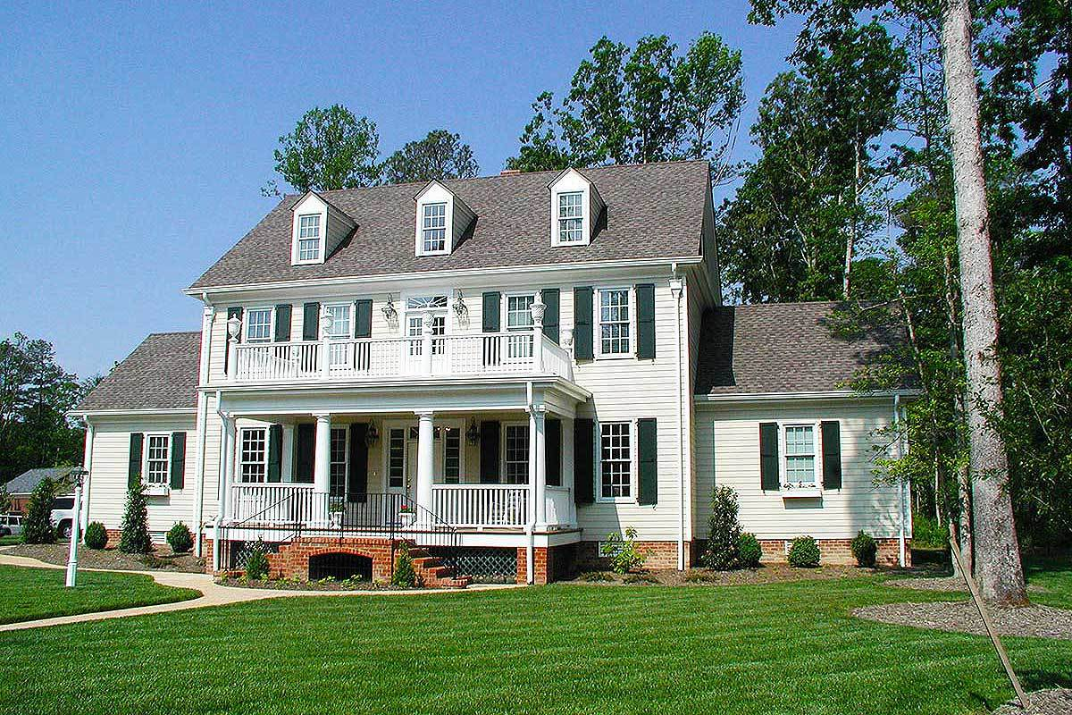 colonial house plan colonial house plans architectural designs 2416