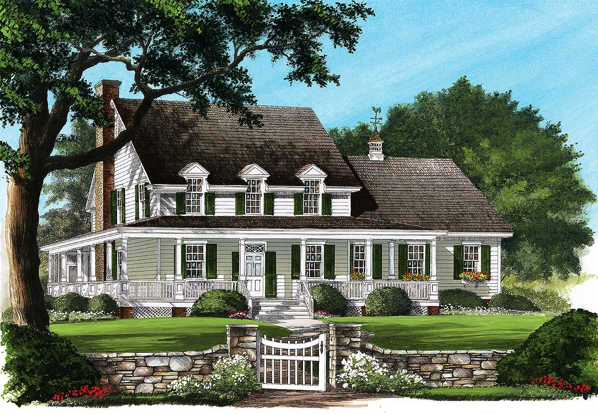 Country Home With Wrap Around Porch 32600wp