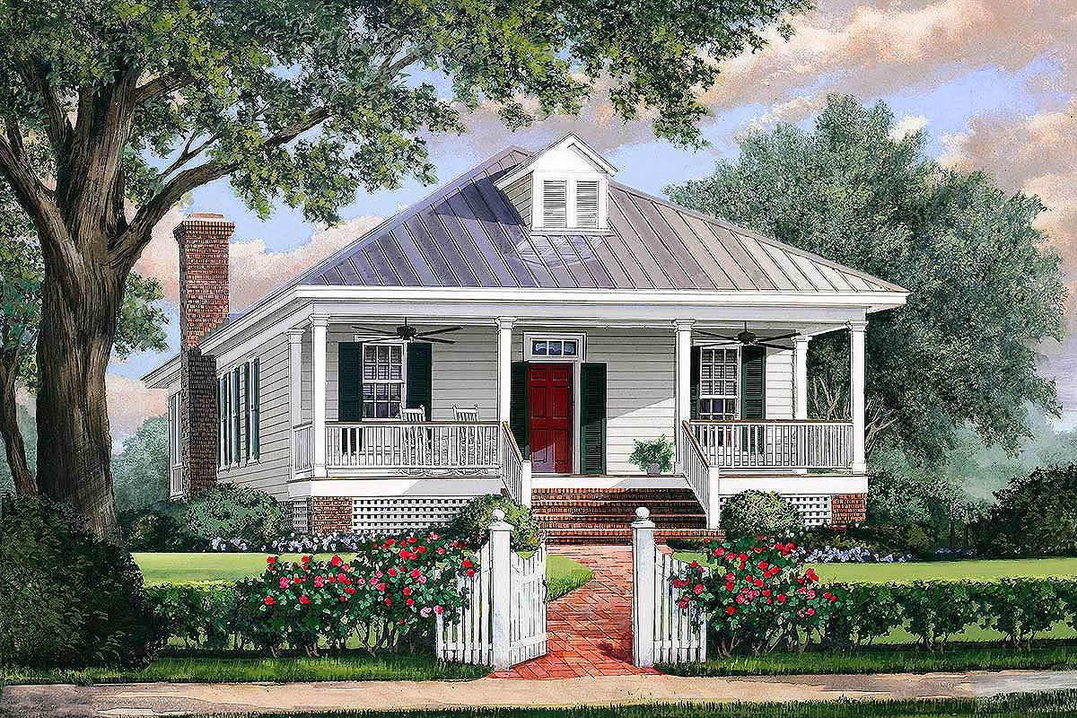 Southern Cottage House Plan With Metal Roof 32623wp Architectural Designs House Plans