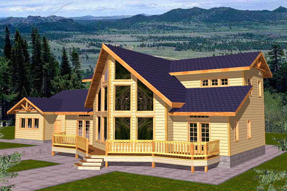 Mountain Home Plan For View Lot - 35100GH