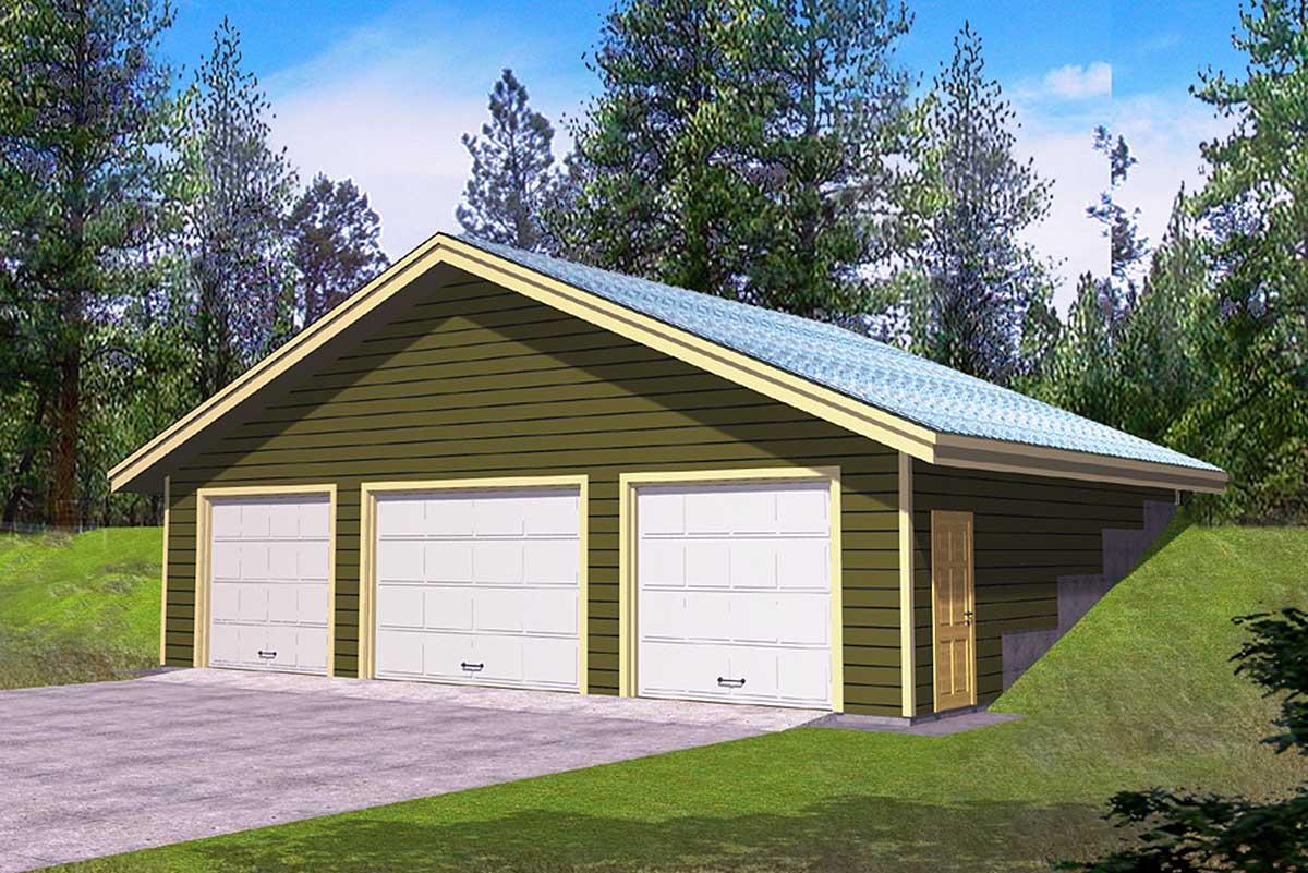 10+ 3 Car Garage Detached Garage Floor Plans Gif