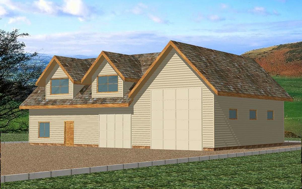 RV Garage with Shop - 35281GH | Architectural Designs ...