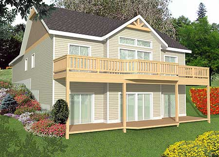 Northwest House  Plan  for a View  Lot  35323GH