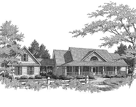 Plan 3611DK: Country Farmhouse with Breezeway on courtyard house plans, wrap around porch house plans, loft house plans, secret passage house plans, fox trot house plans, curved stair house plans, mariner house plans, covered breezeway plans, house house plans, dog trot house plans, monterey house plans, great room house plans, patio home 2 bedroom plans, cabin house plans, entryway house plans, mud room house plans, utility room house plans, angled house plans, man cave house plans, attic house plans,