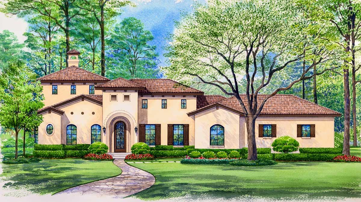 Central Courtyard Dream Home - 36118TX | Architectural ...