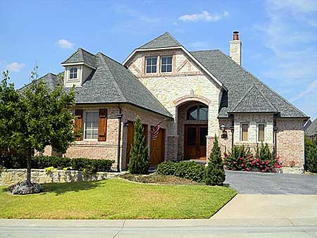 Beautiful Blend of Stone and Stucco - 8988AH ... |Stucco House Designs