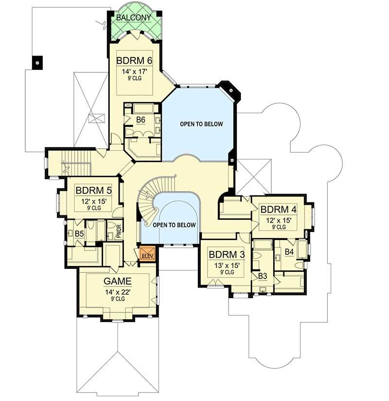 six bedroom mediterranean mansion 36512tx