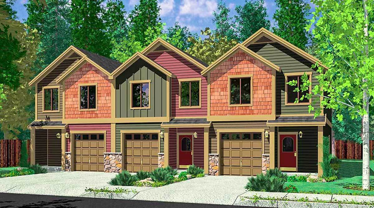 3-Family House Plans