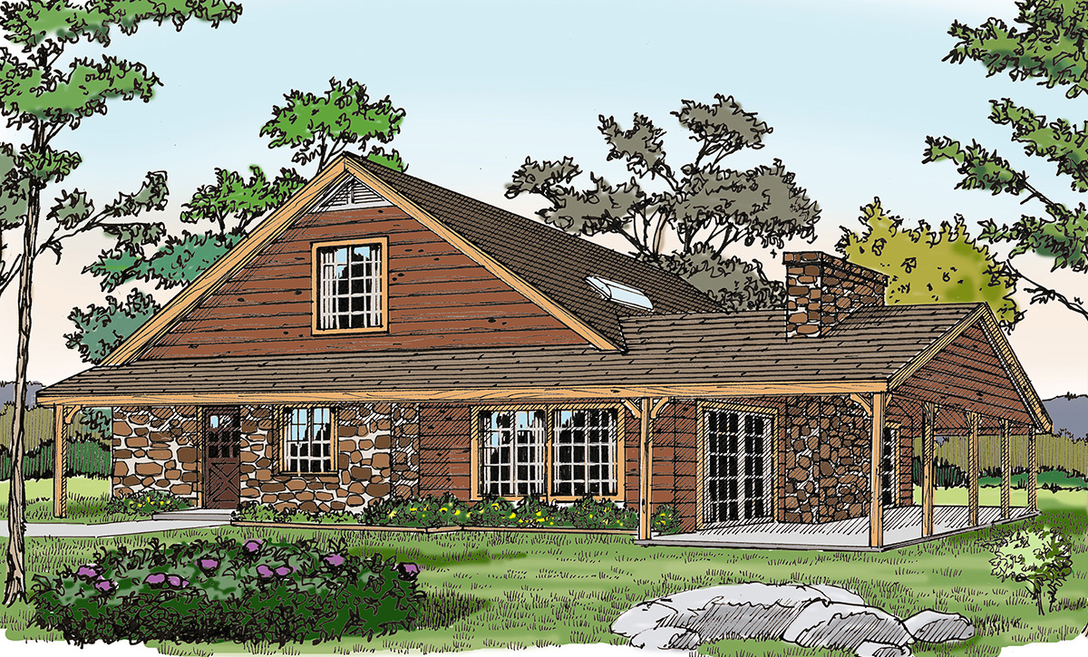Tiny Home Designs: Rustic Vacation Home With A Big Porch