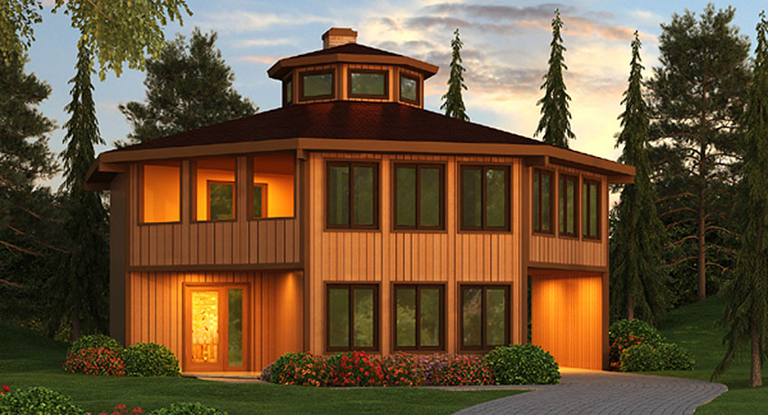 Tiny Home Designs: Octagonal Vacation Home With Conversation Pit