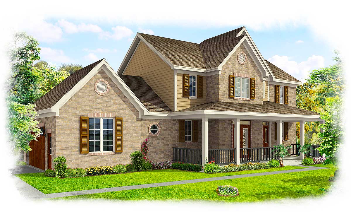 Family Friendly Home Plan - 39172ST