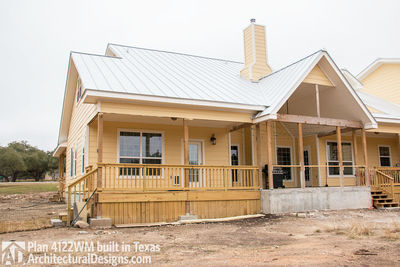 House Plan 4122WM comes to life in Texas again with an expanded garage! - photo 010