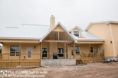 House Plan 4122WM comes to life in Texas again with an expanded garage! - photo 011