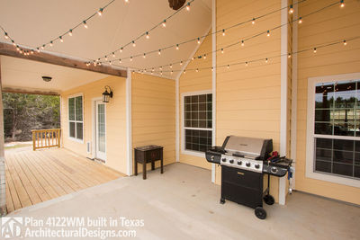 House Plan 4122WM comes to life in Texas again with an expanded garage! - photo 013