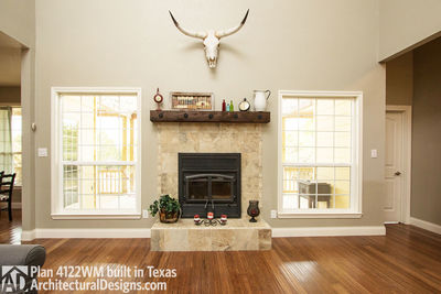 House Plan 4122WM comes to life in Texas again with an expanded garage! - photo 017