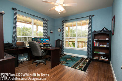 House Plan 4122WM comes to life in Texas again with an expanded garage! - photo 023