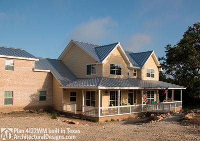 House Plan 4122WM comes to life in Texas again with an expanded garage! - photo 004