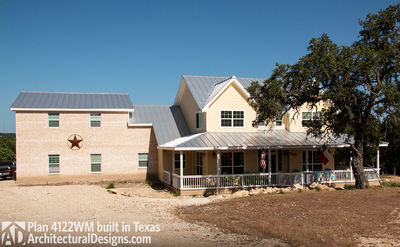 House Plan 4122WM comes to life in Texas again with an expanded garage! - photo 003