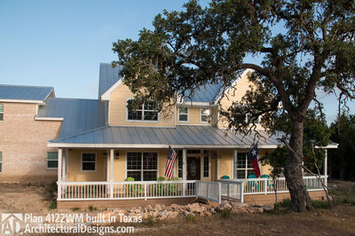 House Plan 4122WM comes to life in Texas again with an expanded garage! - photo 005