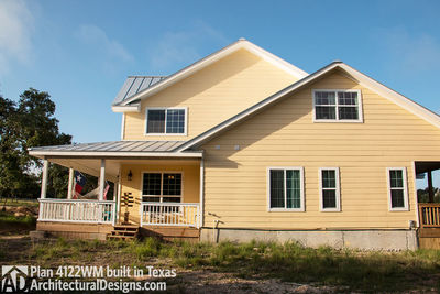 House Plan 4122WM comes to life in Texas again with an expanded garage! - photo 007