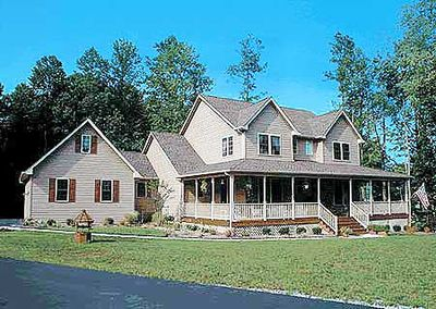 country home plan with marvelous porches 4122wm architectural