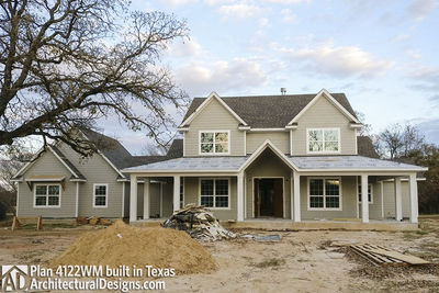Farmhouse Plan 4122WM comes to life in Texas - photo 008