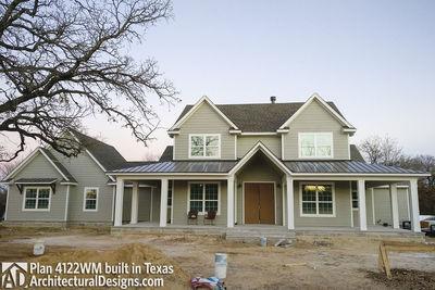 Farmhouse Plan 4122WM comes to life in Texas - photo 001