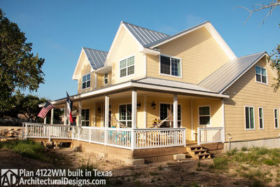 House Plan 4122WM comes to life in Texas again with an expanded garage! - photo 001