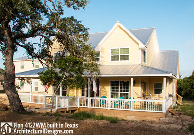 House Plan 4122WM comes to life in Texas again with an expanded garage! - photo 002