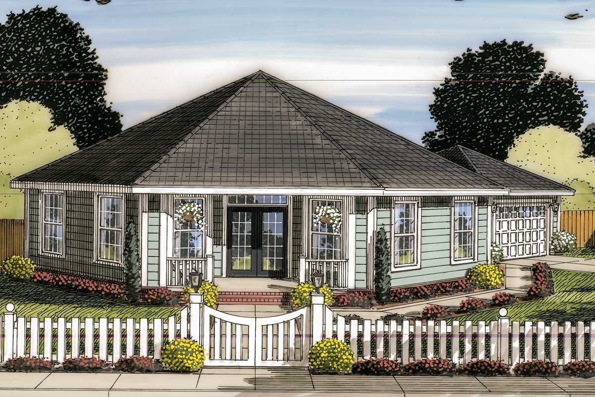 Octagonal Cottage Home Plan 42262wm Architectural Designs House Plans