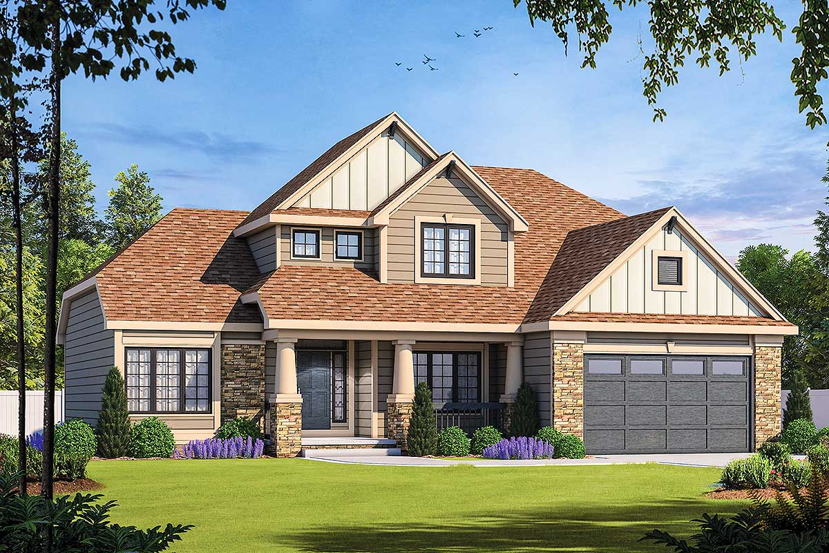 first floor master house plans craftsman home with first floor master 42295db architectural designs house plans 6821