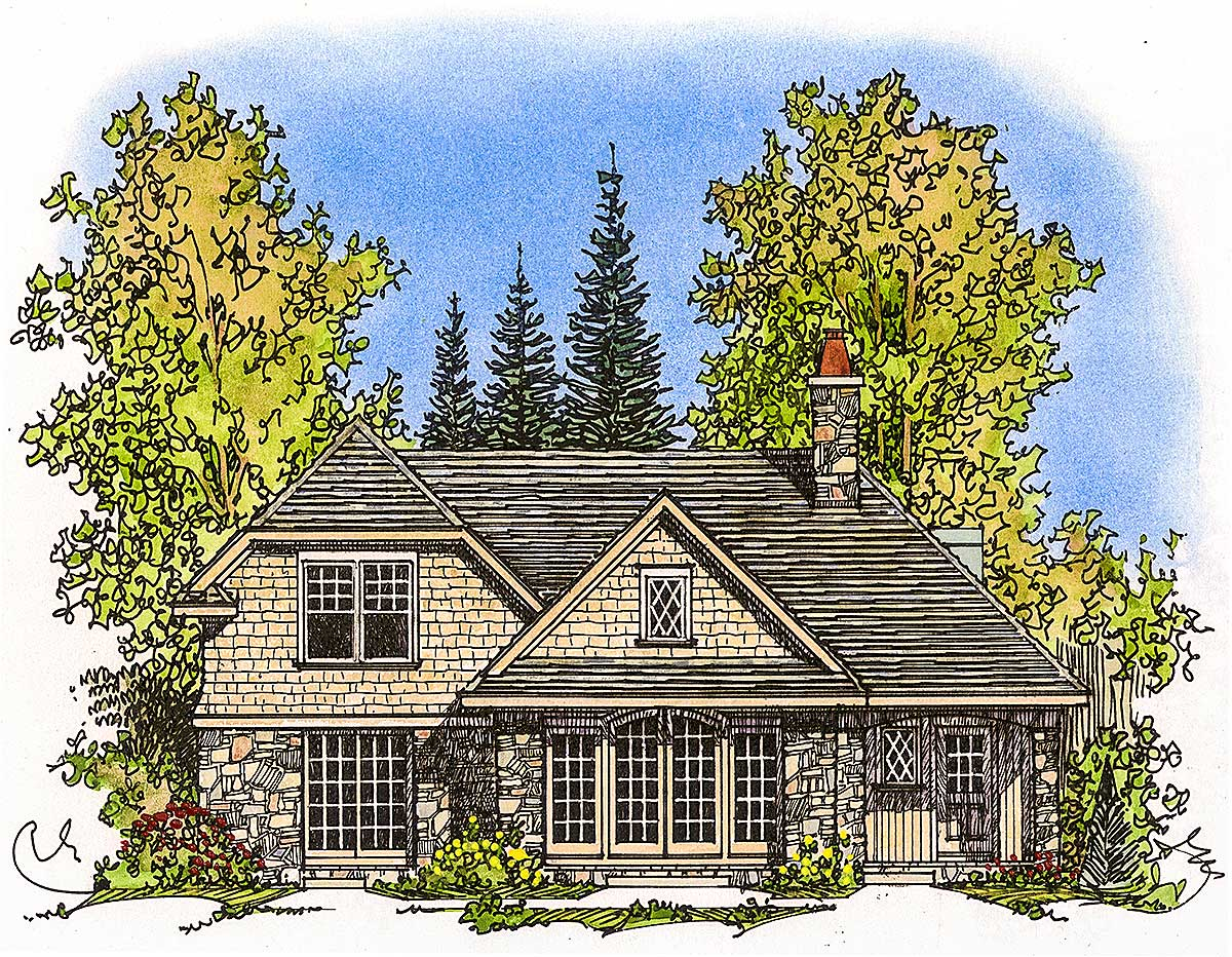 Stone Home Designs: Architectural Designs - House Plans