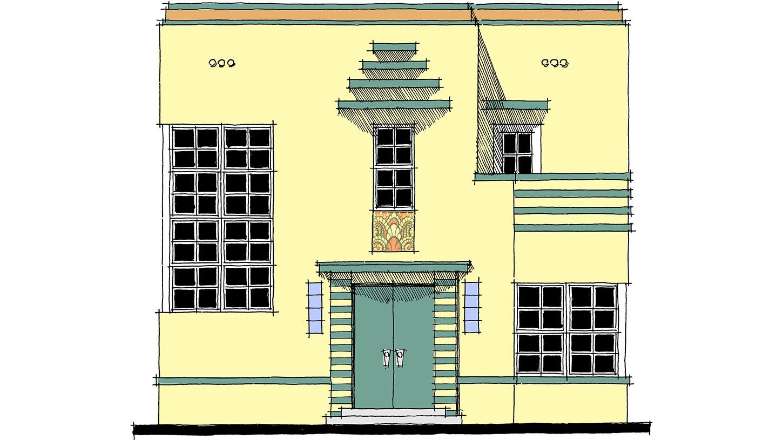 Art Deco Home Plan 44025td Architectural Designs House Plans
