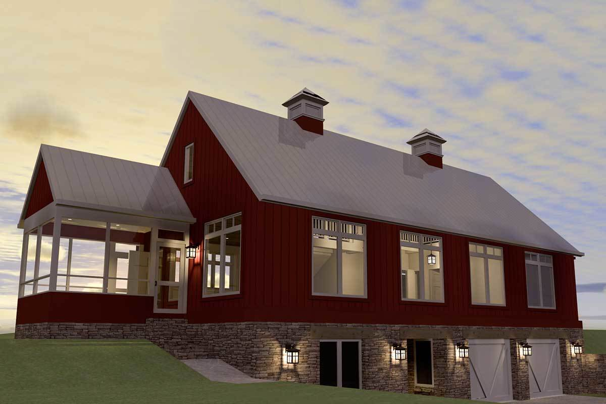 Modern Barn Style House Plan 44103td Architectural Designs