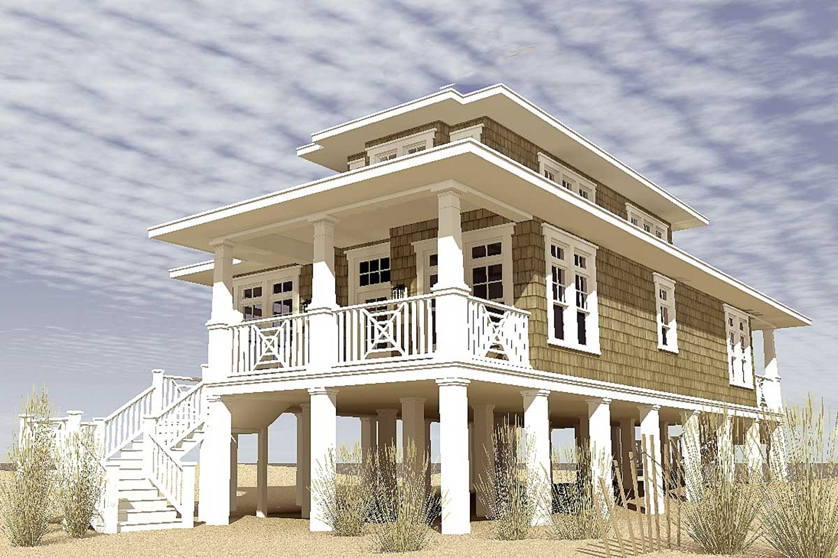 Plan 44116TD: Low Country Beach House Plan on raised cottage house plans, raised bungalow house plans, raised southern house plans, raised modern house plans, raised ranch house plans, charleston low country home plans, charleston lowcountry house plans,