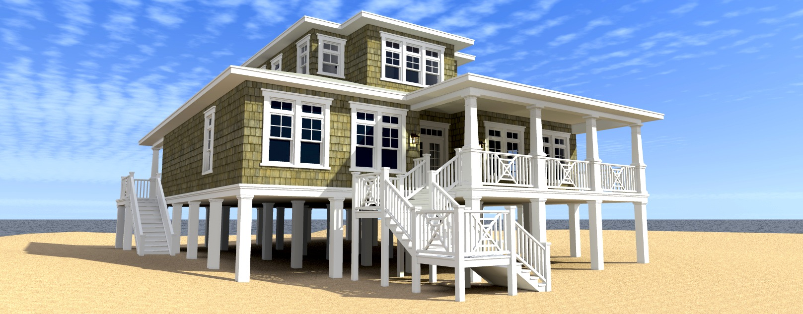 Ultimate Oceanfront House Plan 44117td Architectural