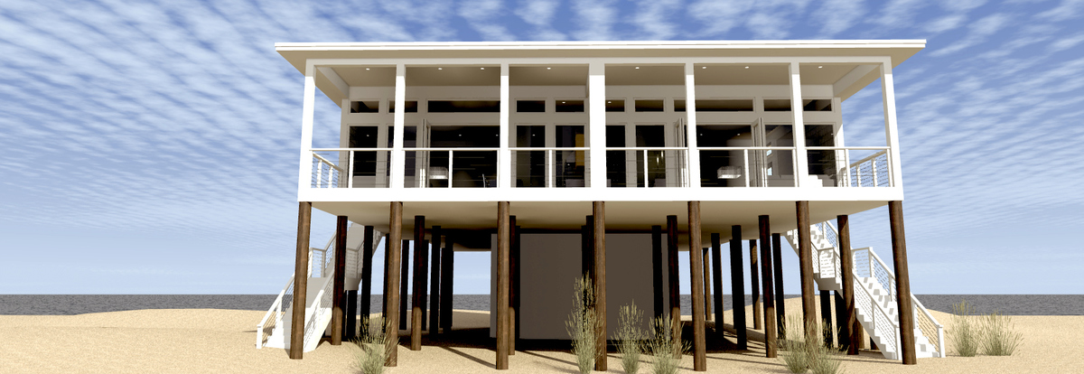 Modern Beach Duplex Plan 44127td Architectural Designs House Plans