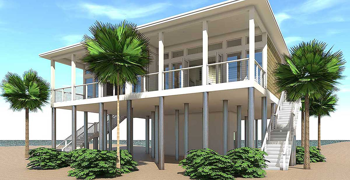 Modern Beach Duplex Plan - 44127TD | Architectural Designs ...