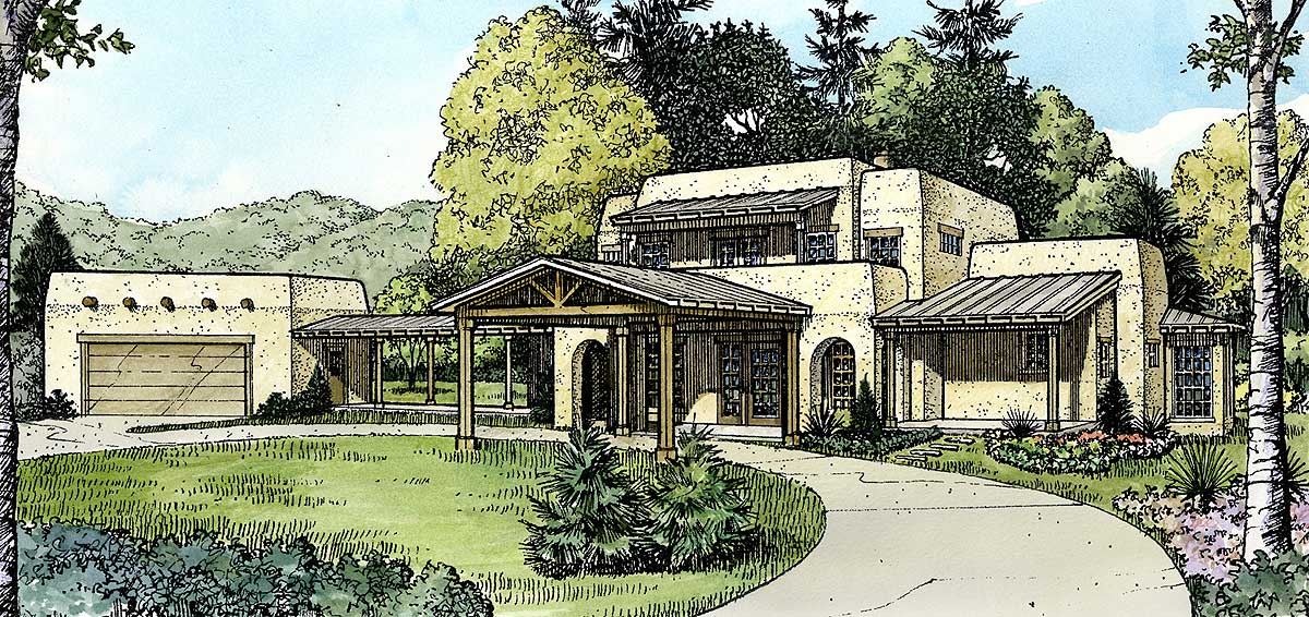 Compelling Southwestern Home Plan