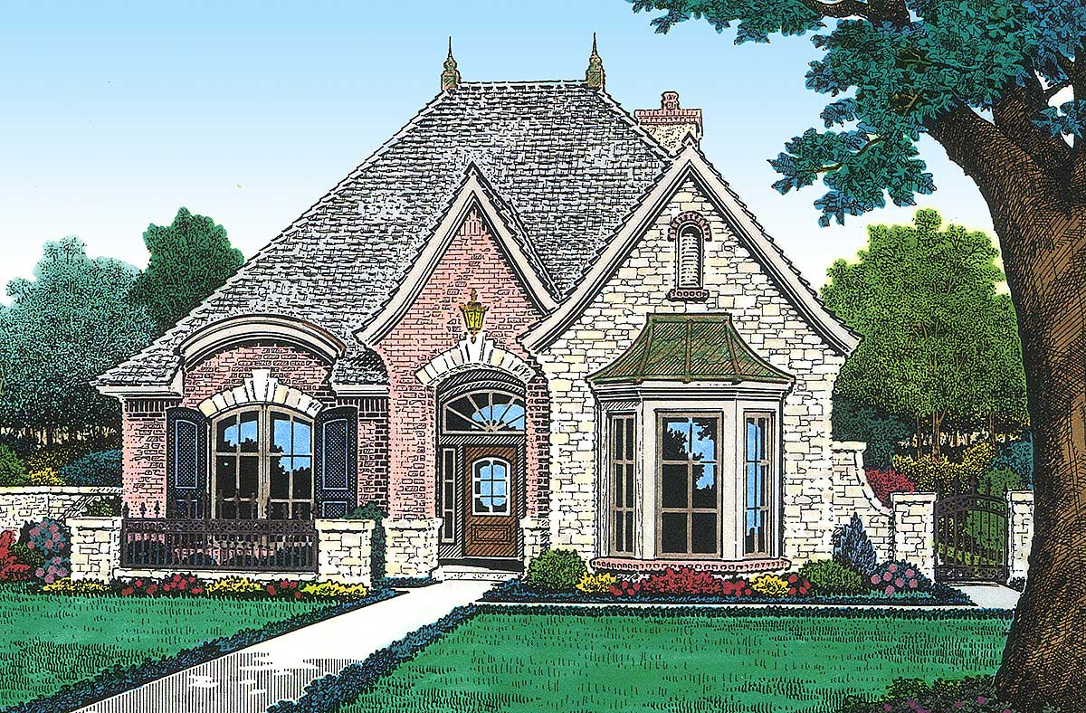 Petite French Cottage 48033fm Architectural Designs