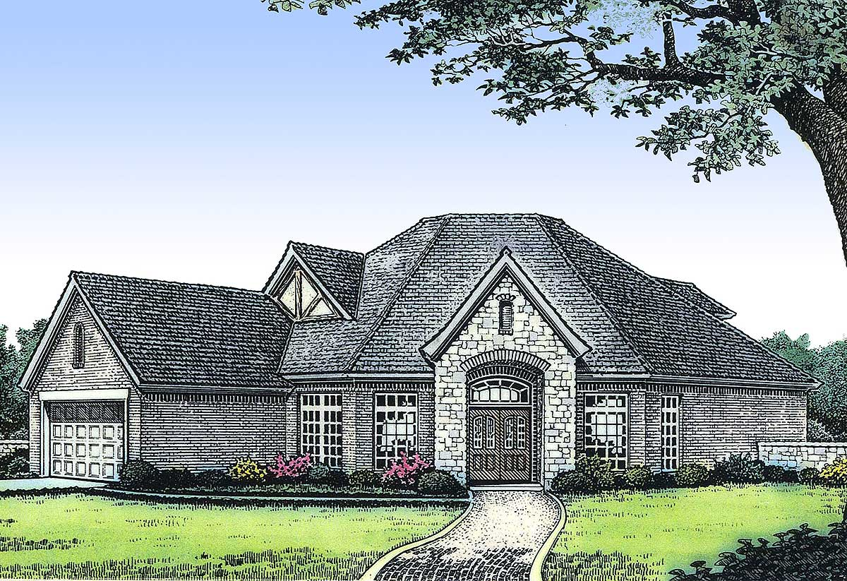 Unique Angled Home Plan - 48121FM