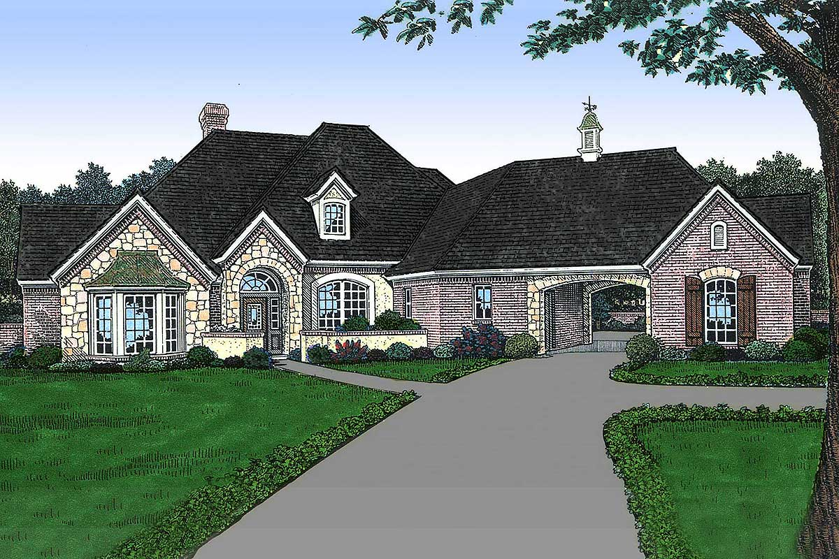 Home Plans: Old World French Country House Plan