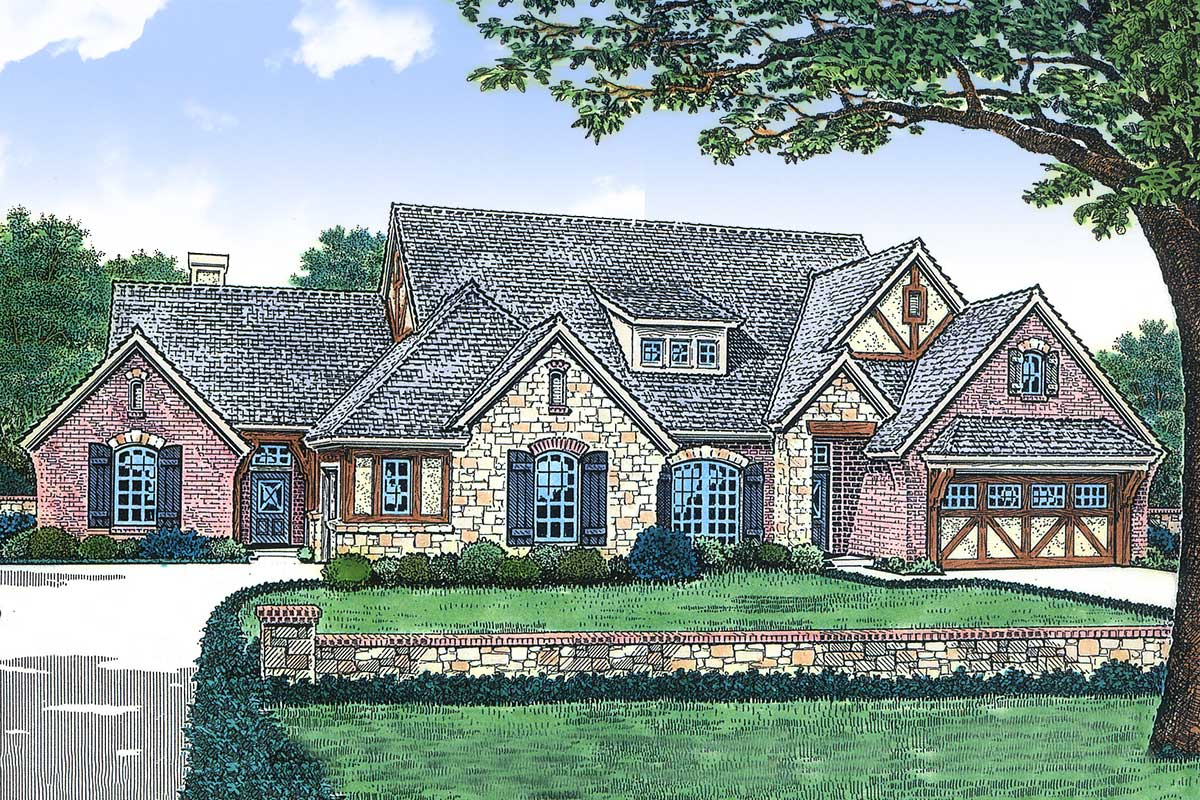 Gorgeous Multi-Family Home Plan with 2 Units - 48271FM ...